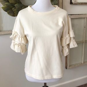 Cropped waist short sleeves sweater size XS